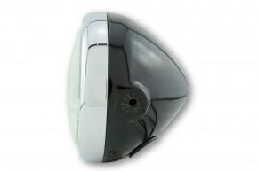 SHIN YO 5 3/4 Zoll Hauptscheinwerfer PECOS, schwarz glänzend, Chromring