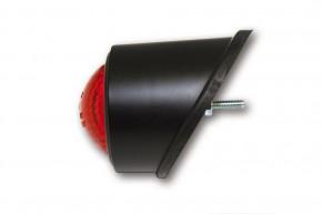 SHIN YO LED-Rücklicht OLD SCHOOL TYP1, schwarz, rotes Glas, E-gepr.