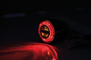 HIGHSIDER ROCKET BULLET LED taillight/indicator, chrome