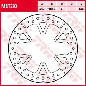 TRW Lucas Brake disc MST290, fixed