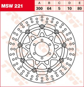 TRW Lucas Bremsscheibe MSW221, schwimmend