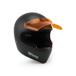 ROEG® HELM-SCHIRM Helmschirm orange-transparent