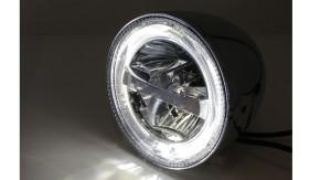 HIGHSIDER 5 3/4 inch LED Headlight CIRCLE, chrome