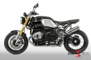 "SILENCER ""Pure Craft HIGH"" by HATTECH, stainles steel polished, with ""EG-ABE"" f. BMW RnineT - Euro 4"