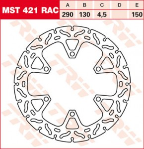 TRW Lucas Brake disc MST421RAC,fixed