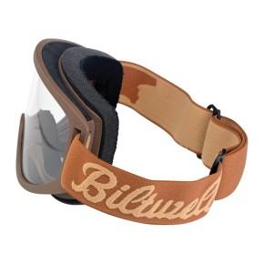 BILTWELL MOTO 2.0 Brille in Braun und Beige, auch für Brillenträger