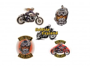 "GOLDTOP Aufkleber-Set Sticker Pack 1 ""Café-Racer"""