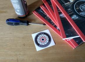 """OILFINGER Sticker """"Das Rad"""" Ø7cm"""