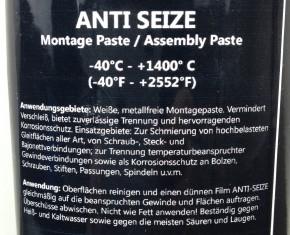 50ml ANTI SEIZE Montage Paste weiß, Assembly Paste white