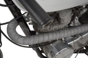 SCRAMBLER-AUSPUFF + Krümmer für alle Yamaha SR 500, Edelstahl matt, mit EG-ABE