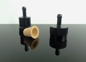 Alu-BENZINFILTER (fuel-filter/FILTRE/filtro) Aluminium black 6mm