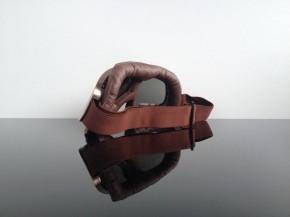 MOTORRADBRILLE f. JET-Helm, braun- / kupferfarben mit getönten Gläsern