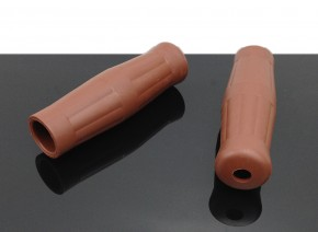 """Vintage style GRIPS, brown, for 7/8"""" handlebars"""
