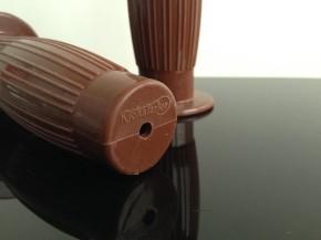 2 rubber GRIPS, Beston-style, KICKSTARTER edition, brown