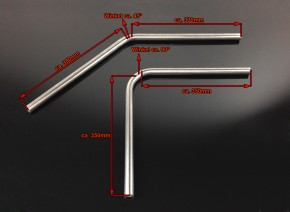 D.I.Y. REAR FRAME KIT, Ø22mm/143mm, f. various motorcycles