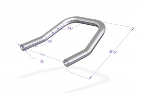 "REAR FRAME, Loop, Ø22mm (7/8"")/210mm fits Yamaha XS400"
