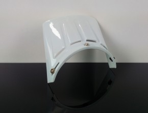 Shield, Visor for retro cross-helmet, (white)