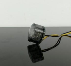 2 small LED-indicators, round, smoked