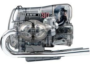MODELL-BAUSATZ BMW R90S Boxer-Motor im Maßstab 1:2!