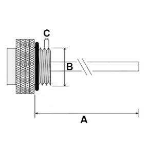 Oil temperature gauge for Honda CX / GL 500 VT / XL 600, XVR / NTV 650