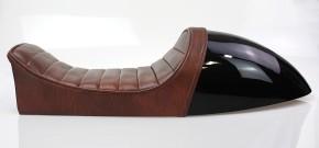 Cafe-Racer SEAT black and brown, fits BMW-Rear Frames HR-CM and HR-CD