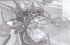 Headlight GRILL black coated, suitable for Yamaha XT500