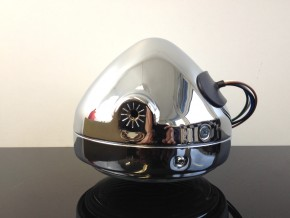 Classic head light / headlamp, chromed