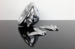 "HEAD LIGHT with BRACKETS by BHCKRT for ""Shrewd Shroud"" silver/chrome"