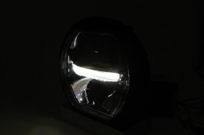 "LED-HEADLIGHT with parking light, black, ""e""-marked"