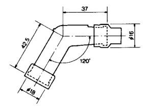 Spark Plug Resistor Cover NGK VB05F 120° black for SR500 XT500