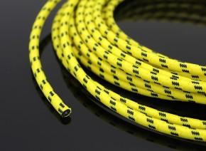 Retro ZÜNDKABEL, gelb mit schwarzen Streifen