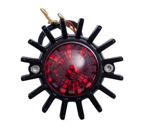 LED-RÜCKLICHT im Krümmersterndesign, schwarz