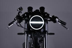 LED-Scheinwerfer 5 3/4 Zoll NEOVINTAGE, schwarz v. DAYTONA