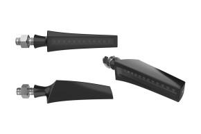 HIGHSIDER LED sequence-indicator STS 1, black anodized, smoke lens, E-marked