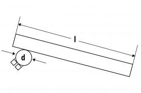 FEHLING Stummellenker Montage Gabelstandrohr 30 mm, Länge 265 mm