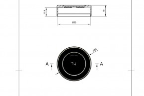 STOCK SALE: HIGHSIDER Universal CNC-milled cover for brake fluid reservoir rear Ø 52 mm
