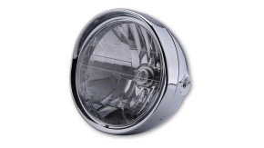 SHIN YO Chrome headlamp with visor, 6 1/2 inch