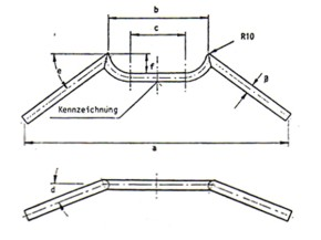 Cafe-Racer handlebar, 565mm, FEHLING