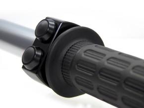 """Lenker-ARMATUR, """"m.switch"""", v. MOTOGADGET, schwarz eloxiertes Aluminium, 3 schwarze Taster, f. 22mm (7/8"""") Lenker"""
