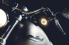 """1 INDICATOR with front position light """"Bullet 1000PL"""" black by KELLERMANN (one piece)"""