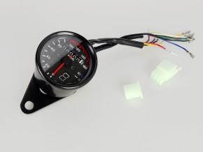 TACHOMETER K=1.4 bis 160km/h, 61mm mit Kontrollleuchten und Ganganzeige