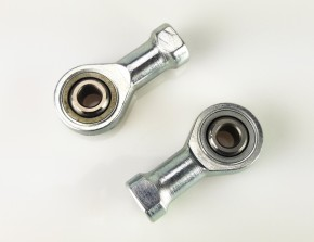 1 Pair STEERING HEADS for footrest systems, M6 thread (left- and right thread)