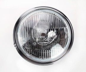Oldstyle HEADLIGHT, Lucas-style, homologated