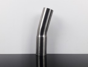 EXHAUST PIPE, bending, stack, stainless steel, 15 degree, app. 45mm