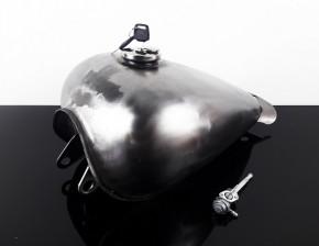 Benzin TANK in Peanut- / Tropfenform, Stahl