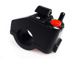 Complete mini SWITCH CLUSTER for 22 mm handlebars, black