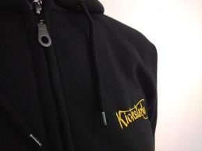 KICKSTARTER Zip-Hoodie, Zipper, black  L