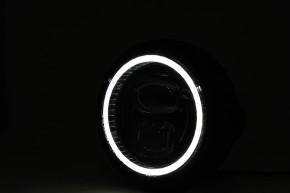 HIGHSIDER LED headlamp PECOS TYPE 7, chrome., bottom mount
