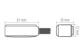 HIGHSIDER CNC LED indicator BRONX, red, tinted glass