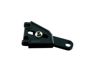 HIGHSIDER CNC Alu Lampenhalter Set EXTEND für Ø 35-37 mm, längenverstellbar, schwarz